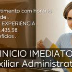 Vaga Para Auxiliar Administrativo – Admissão Imediata
