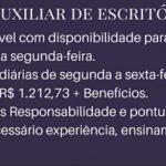 PRECISA-SE DE AUXILIAR DE ESCRITÓRIO