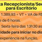 Contrata- Recepcionista/Secretária para Escritório