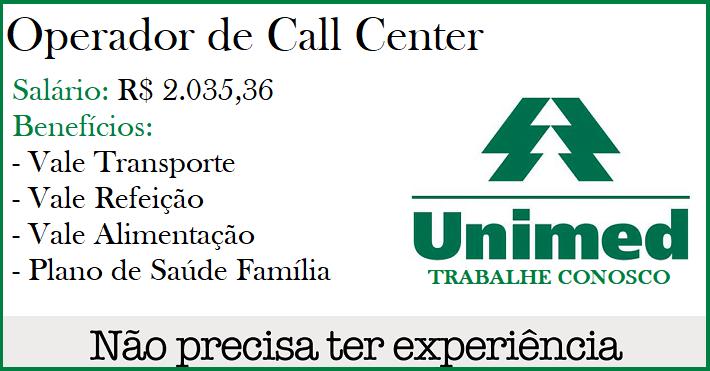 VAGAS PARA OPERADOR(A) DE CALL CENTER – R$2.035,36 + BENEFÍCIOS – NÃO É NECESSÁRIA EXPERIÊNCIA