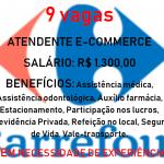 CARREFOUR ESTA DISPONIBILIZANDO 9 VAGAS PARA ATENDENTE DE E-COMMERCE SALÁRIO R$ 1.300,00 INICIO IMEDIATO SEM NECESSIDADE DE EXPERIÊNCIA