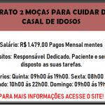 CONTRATO 2 MOÇAS PARA CUIDAR DE UM CASAL DE IDOSOS