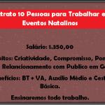 Contrato 10 Pessoas para Trabalhar em Eventos Natalinos.