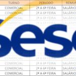 SESC ABRE PROCESSO SELETIVO– 1.500 VAGAS DE EMPREGOS – PARA NÍVEL FUNDAMENTAL, MÉDIO – SALÁRIOS DE R$ 987,00 A R$3.430,00!