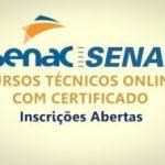 Senac abre inscrições para processo seletivo de cursos a distância