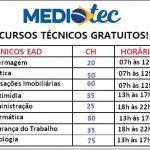 Abertas as inscrições para o MEDIOTEC 2019 – Cursos Técnicos Gratuitos EAD.