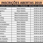 Cursos Técnicos – EAD 2019 – MÉDIO TÉCNICO SENAC. Inscrições Abertas !