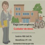 Contrata-se com Urgência Cuidador de Idoso – Salário R$ 1.365,76 – Somente 6 horas diárias