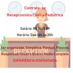 Contrata Recepcionista para Clinica Pediátrica – Apenas seis horas por dia.